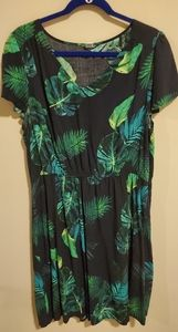 Old Navy Dress with Palm Leaves